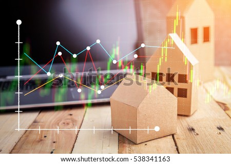 Shutterstock Real estate on the top of wooden floor. house, building, home, Flat design for business financial marketing banking real estate property in minimal concept