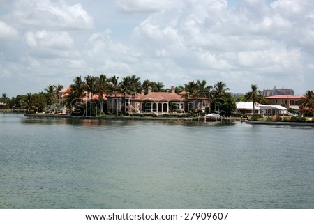 Real estate residential waterfront property in Florida