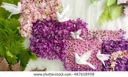 Real Flowers Backdrop 487658998