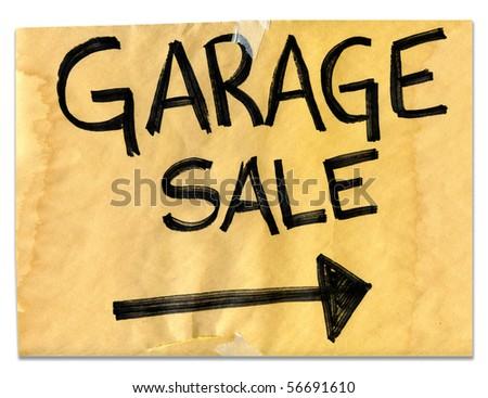 Real Garage Sale Sign