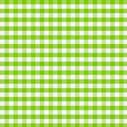 Real green checkered fabric tablecloth.