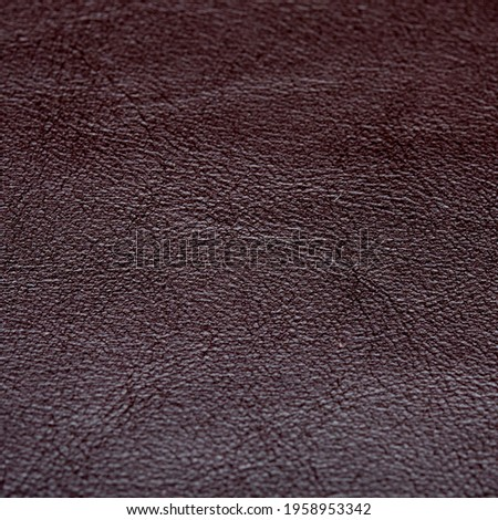 Real leather upholstery pieces used in home and automotive decoration were taken with close-up. In this way, its texture is reflected in the photo Stok fotoğraf ©
