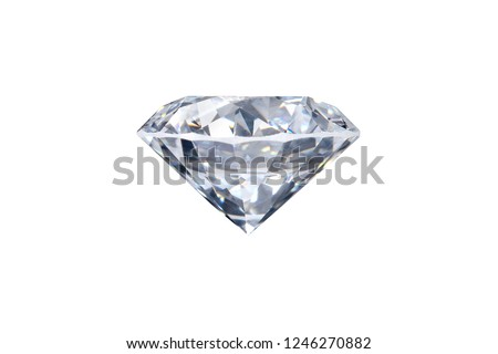 real loose brilliant round diamond side view on white background