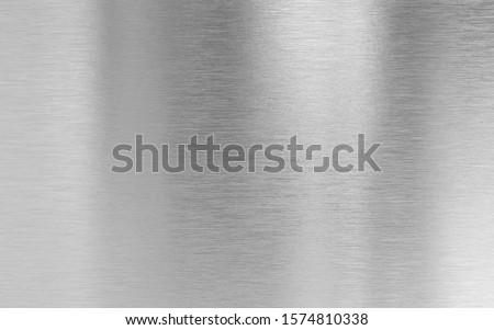 Real metal aluminum fine brushed texture Stockfoto ©
