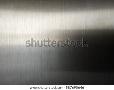 real metal stainless steel in texture background, abstract surface in industrial equipment. #587695646