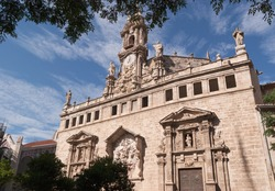 Real Parroquia de los Santos Juanes in Valencia. It was built in gothic style in 1240 over an old mosque. In the XIV and XVI century it was rebuilt and later modified between 1693 and 1702