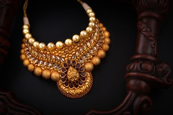 real pearl necklace temple jewellery