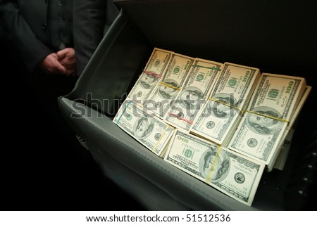 real photo of bag with one million dollars US