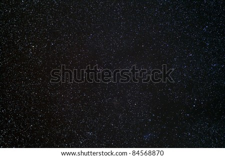 Real photograph of stars in the night sky. Ideal as a background.