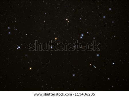Real Photograph Of Stars In The Night Sky With Bright ... Real Star In The Sky