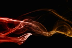 Real photographed abstract smoke on black background.