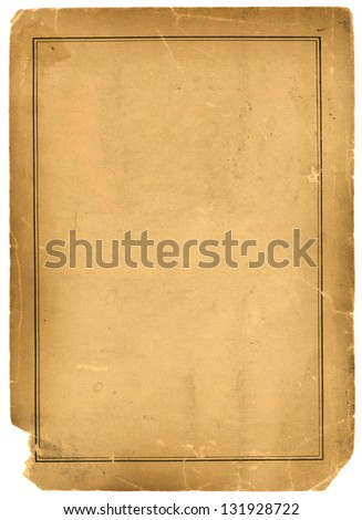 Real 1800s Antique Parchment Paper Background Texture