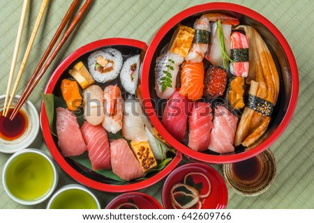 Real sushi of Tokyo Style