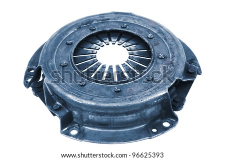 real used car clutch isolated over white background