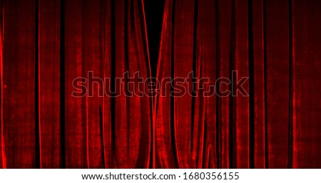 Photo of  Real Velvet Cloth Stage silk Curtain. Curtain For theater, opera, show, stage scenes. Real Cinematic Curtain Photo. Glittering cloth.