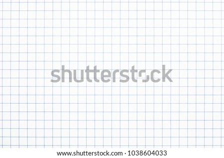 Real white grid paper texture or background School notebook #1038604033