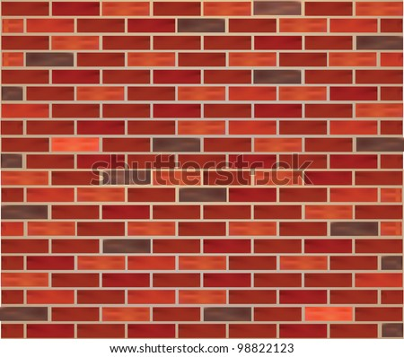 Realistic Brick Wall texture background mesh eps 10