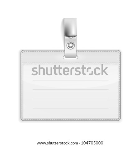 Realistic Card Name or Id Holder isolated on white