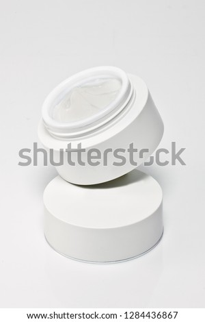 Realistic Cosmetic bottle. Container for cream, foams and other cosmetics.