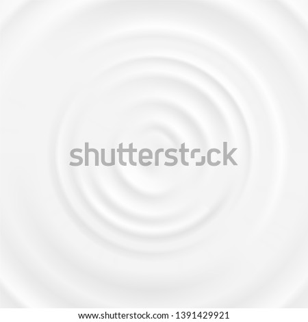 Realistic 3d Detailed White Milk Round Ripples Top Closeup View. illustration of Curved Surface Dairy Product