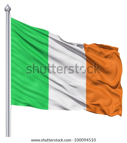 Realistic 3d flag of Italy fluttering in the wind.