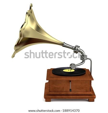 realistic 3d render of gramophone #188914370