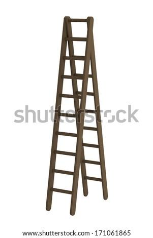 realistic 3d render of ladder #171061865