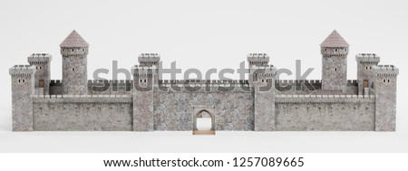 Realistic 3D Render of Medieval Castle