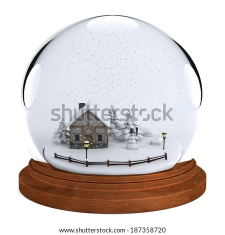realistic 3d render of snowball