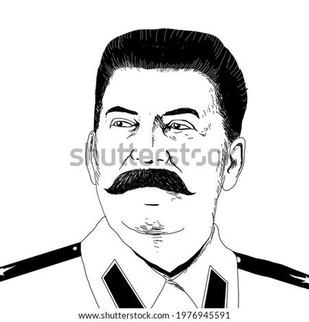 Realistic illustration of Soviet leader Iosif Stalin Stock photo ©