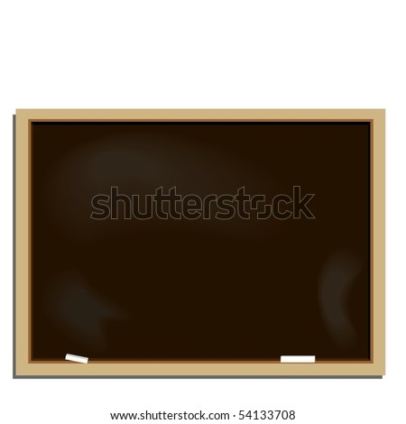 Realistic illustration school blackboard - Raster