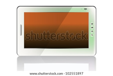 Realistic mobile phone.Iphone-style gadget - stock photo