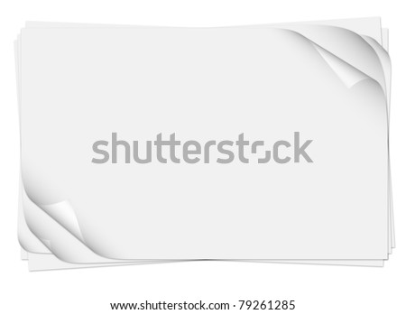 Realistic multiple curled page corners