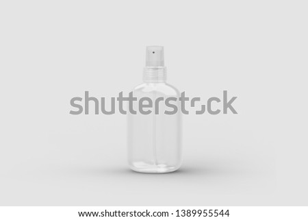 Realistic. Realistic Cosmetic plastic bottle can sprayer container. Template For Mock up Your Design. 3D rendering
