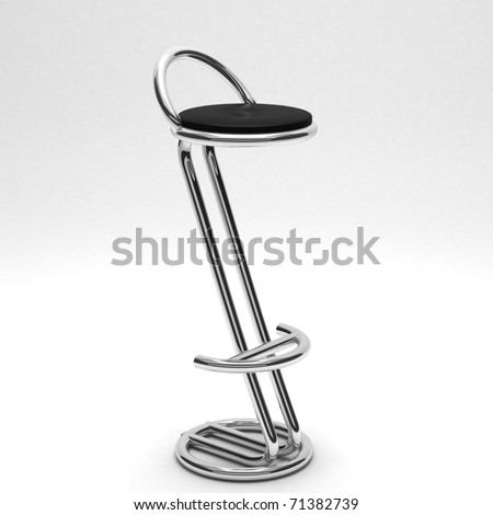 realistic render of a bar chair isolated on white