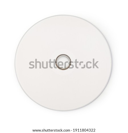 Realistic white cd template isolated on white background with clipping path. Stock photo ©