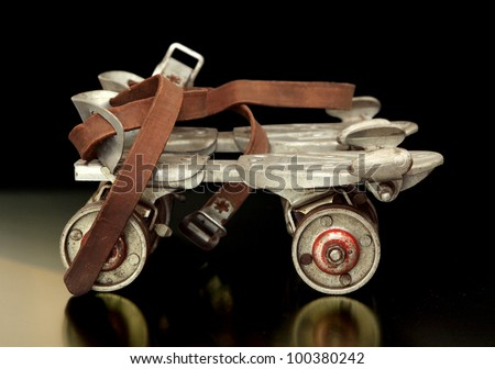 Really old sidewalk skates; the kind you had to put on with a key back in the 40's.