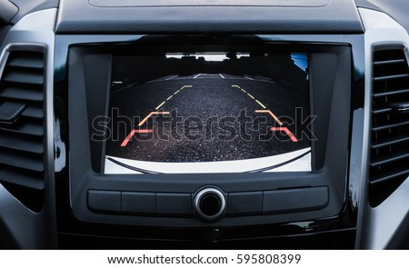 Rear area image showing automobile occurrence/Automotive rear area video camera
