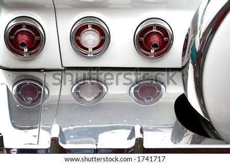 Rear lamps of classic car #1741717