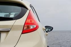 Rear light of a modern hatchback detail