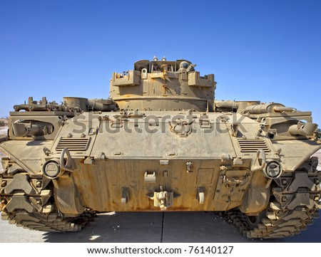 Rear view of a Desert Tank