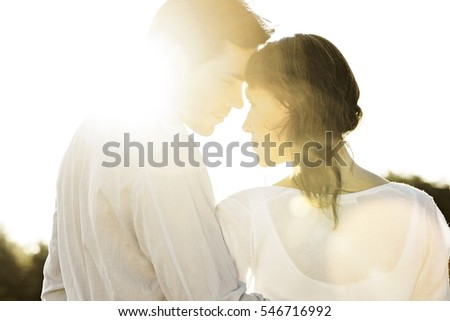 rear view of romantic couple...