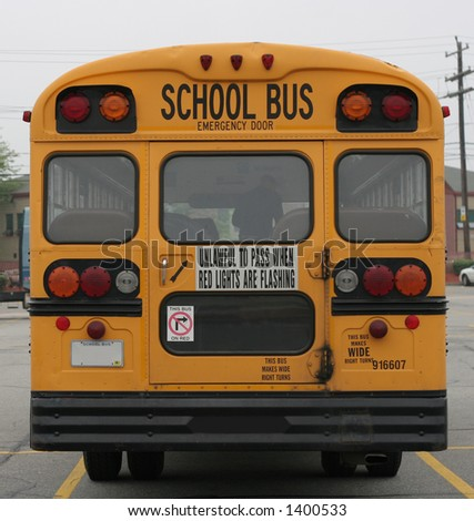 rear view of school bus