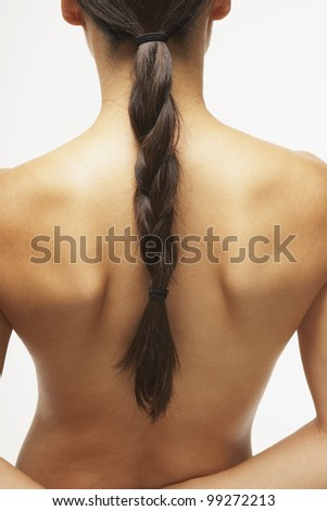 Rear view of woman's naked back