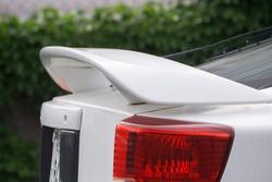 Rear view with big spoiler at Rear of car