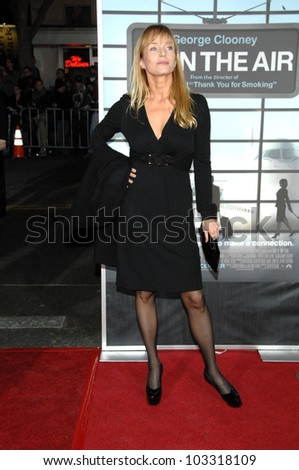 """Rebecca De Mornay at the  """"Up In The Air"""" Los Angeles Premiere, Mann Village Theatre, Westwood, CA. 11-30-09 - stock photo"""