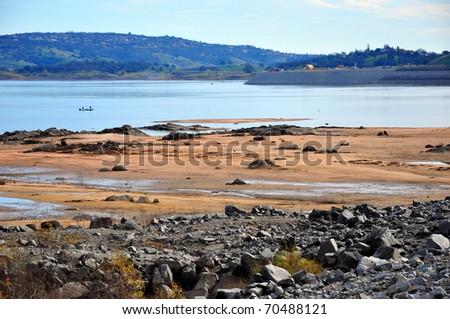 Receding lake