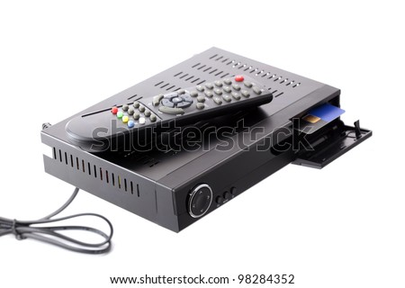 Receiver with CA slot for satellite television Zdjęcia stock ©