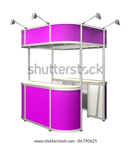reception counter isolated