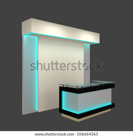reception counter with stand